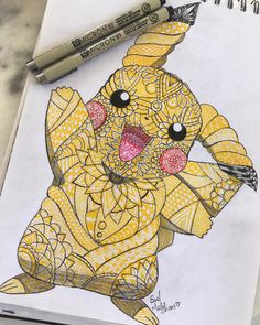 it's done!!if it goes well I'll make more :3 #pokemongo #pokemon #process #art #artwork #artist #artist_4_shoutout #presketch #mandala #yellow #pika #linework #wip #penonpaper #artistsoninstagram