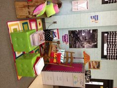 Classroom reading corner.