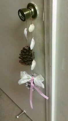 Pine Cone, Ribbon & Shells