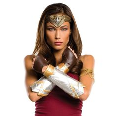 Adult Batman v Superman: Dawn of Justice Wonder Woman Deluxe Costume Accessories Set, Gold
