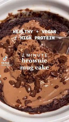 Healthy Sweet Snacks, Healthy Dessert Recipes, Healthy Baking, Vegan Desserts, Healthy Desserts, Snack Recipes, Mug Recipes, Sweet Recipes, Baking Recipes