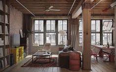 Image result for industrial interior design