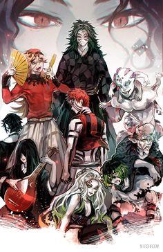 Para Duabelas Iblis Bulan (Junikizuki) di Kimetsu no Yaiba (Demon Slayer) - Pace Wibu