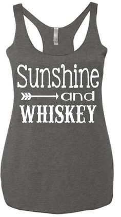 Sunshine and whiskey tank womens racerback by HeartFeltArtwork