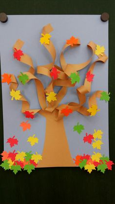 ✔ 33 easy fall crafts ideas to celebrate the autumn season 31 Fall Arts And Crafts, Autumn Crafts, Fall Crafts For Kids, Autumn Art, Thanksgiving Crafts, Autumn Trees, Toddler Crafts, Art For Kids, Diy And Crafts