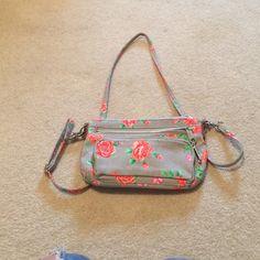 Side bag Grey flowered pink bag ! PINK Victoria's Secret Bags Crossbody Bags