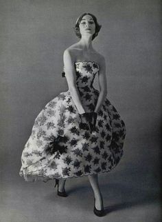 Evening gown by Givenchy, spring 1957.