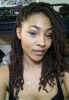Kinky twist , I got this protective style after I dyed my hair burgundy because i'm working on getting my hair healthy again.