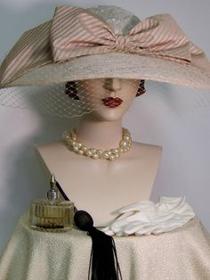 Edwardian Inspired Wide Brimmed Hat by ThistleCottageStudio Wide Brimmed Hats, Brim Hat, Vintage Boutique, A Boutique, Ladies Boutique, Feather Hat, Millinery Hats, Sinamay Hats, Fancy Hats