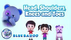Head, Shoulders, Knees and Toes | Blue BAGOO Kids Songs & Nursery Rhymes