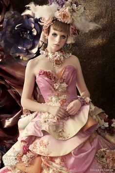 Noiva com Classe: Vestidos de noiva floral de cores variadas
