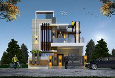 Modern Bungalow Exterior, Bungalow House Design, House Front Design, Classic House Design, Modern House Design, 20x40 House Plans, House Architecture Styles, Kerala House Design, House Viewing