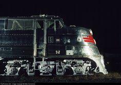 RailPictures.Net Photo: CBQ 9911A Chicago Burlington & Quincy Railroad EMD E5 at Burlington, Wisconsin by Mike Danneman