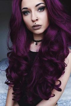 27 Purple Is the New Black hair Dyed hair, Hair color purple red hair color - Red Hair Dark Plum Hair, Dark Purple Hair Color, Ombre Hair Color, Cool Hair Color, Color Red, Purple Dye, Brown Hair, Color Streaks, Lavender Color