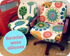 Reciclar unos sillones de oficina