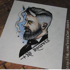 Redberry Tattoo Studio Wrocław #tattoo #inked #ink #studio #wroclaw #warszawa #tatuaz #gdansk #redberry #katowice #berlin #poland #krakow #kraków #sosnowiec #design #boryslav #dementiev #razor #damngoodtattoo #demon #man #portrait #horns