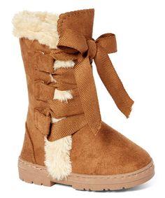Brown Dress Boots Sz.2//3 Chatties Girls Tan