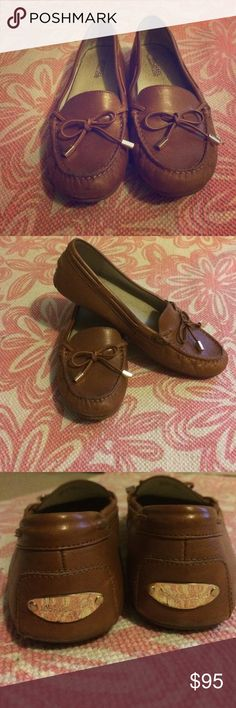 Michael Kors size 8M brown leather moccasins Michael Kors size 8M brown leather moccasins, gold tassels, moderately worn Michael Kors Shoes Moccasins