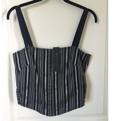 Gorgeous NWT Marc by Marc Jacobs crop fitted top It's times like these when I realize I own some really beautiful clothes but if they hang in your closet and never see the light of day, what's the point? Here's a really chic tailored looking crop bustier type top that would look amazing with high waisted denim jeans/shorts with a throw on cardi on top. Or, throw on a blazer w/wide leg culottes for night. Either way this is a versatile amazing piece that I should probably not sell. No vanity…