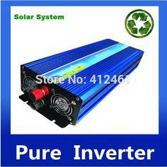convertidor de AC DC 3000W 12Vdc 110V/120V/220V/230VAC 50Hz/60Hz Peak Power 6000W Off-grid Pure Sine Wave Solar Inverter or Wind