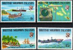 British Solomon Islands 1974 Royal Visit Set Fine Mint SG 250/3 Scott 264/7 Other Solomon Island Stamps HERE