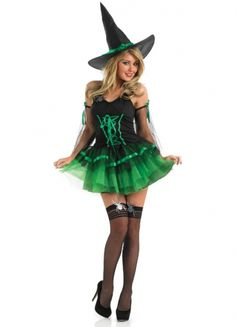 Green Tutu Witch Costume Adult - Party Britain Fancy Dress  sc 1 st  Pinterest & 107 best Witch costumes images on Pinterest | Witch costumes ...