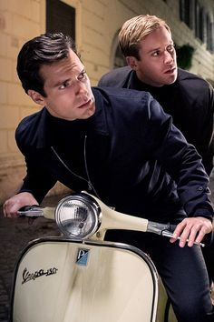 Amancanfly's 2016 New Year Countdown ↳ Henry Cavill Edits 15/31: Henry Cavill as Napoleon Solo with Armie Hammer as Ilya Kuryakin in The Man From U.N.C.L.E.
