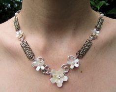 Bridal Mother of Pearl Chainmaille Necklace | Flickr - Photo Sharing!