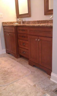 Bath homecrest cabinets maple buckboard vanity top is for Bathroom cabinets knoxville tn