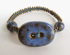 Kristen from My Bead Journey took to waxed linen right away as this awesome bracelet shows.