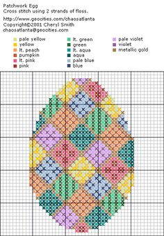 easter cross stitch patterns