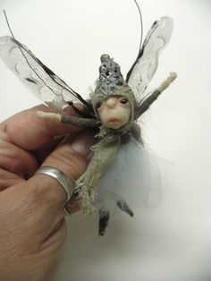 How To Make Fairies Out Of fabric | tiny OOAK poseable fairy ART DOLL by by dinkydarlings on Etsy