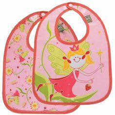 SugarBooger Fairies and Berries Mini Bib Gift Set of 2 #WhimsicalUmbrella #Kids #Gift whimsicalumbrella.com