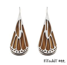 Wood earring - Fit the Kit collection - www.scicche.it