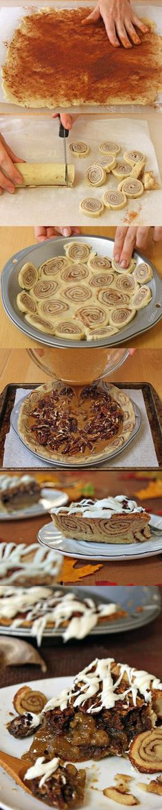 Cinnamon Bun Pecan Pie Recipe