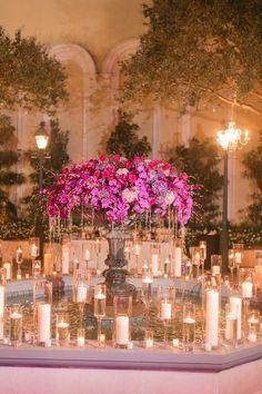 Wedding reception centerpiece idea; Photo: Arte De Vie