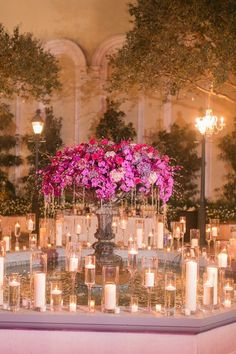 Wedding reception centerpiece idea; Photo: Arte De Vie