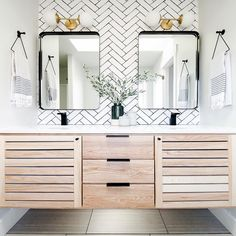 Are you READY for this Before After? Our master bathroom vanity is finally finished and I am so in love. Master Bathroom Vanity, Downstairs Bathroom, Bathroom Wall Decor, Bathroom Inspo, Bathroom Renovations, Home Remodeling, Decorating On A Budget, Interior Decorating, Floating Vanity
