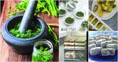 Herb storage, wintertime.
