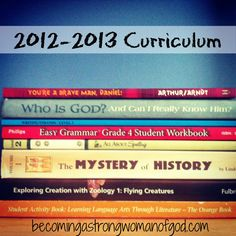 "Homeschool Friday {Link Up} Party ""Our Curriculum for 2012-2013"""