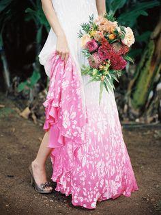 Photography: Jonathan Canlas - jonathancanlasphotography.com   Read More on SMP: http://www.stylemepretty.com/destination-weddings/2014/05/12/colorful-banana-orchard-wedding-inspiration/