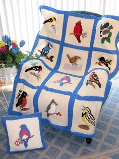 Knitted Songbird Afghan Pattern