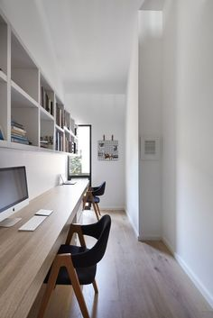 home Office Decor Cool Office Space, Home Office Setup, Best Home Office Desk, Office Interior Design, Office Interiors, Exterior Design, Modern Home Offices, Minimalist Office, Minimalist Interior