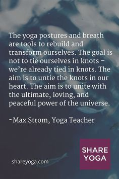 The yoga postures and breath are tools to rebuild and transform ourselves. The goal is not to ... #yoga #asana #yoga #yogaposes #yogafitness #yogatraining #yogapinterest #yogaforbegginers