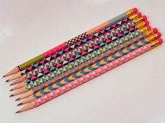 Back To School DIY ~ Washi Tape Pencils | Smart n Snazzy