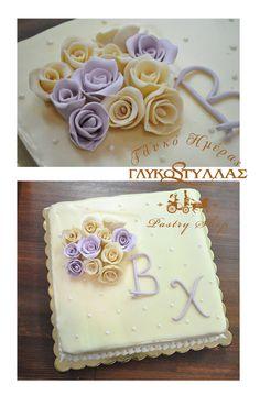 Τούρτα αρραβώνα με αποχρώσεις ιβουάρ & λιλά !   /   Wedding Cake ivory & lavender !
