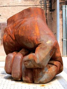 Fist Sculpture in Beijing, China - photo by Chris Weaver