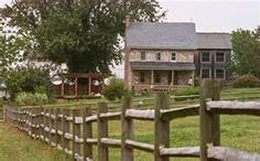 This stone farmhouse in Lancaster County, Pa.,