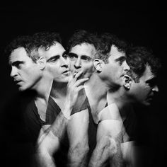 Black and White Photography Portrait of Joaquin Phoenix Joaquin Phoenix, Multiple Exposure, Double Exposure, Long Exposure, Best Portraits, Studio Portraits, Silhouette, Famous Faces, Black And White Photography