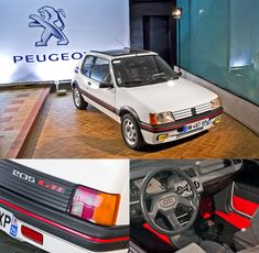 Peugeot 205 GTi (19??) ... my 20 year old sons new old car... great taste. Lots of restoration work though